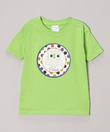 Lime Mummy Owl Personalized Tee - Infant, Toddler & Girls