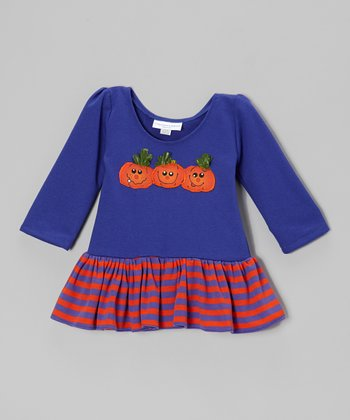 Periwinkle Pumpkin Patch Dress - Infant & Toddler