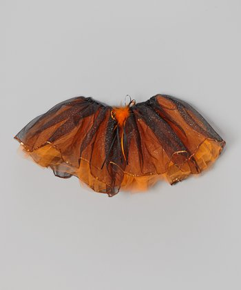Orange & Black Sparkle Tutu - Toddler & Girls