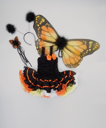 Black & Orange Monarch Tutu Dress-Up Set - Infant, Toddler & Girls