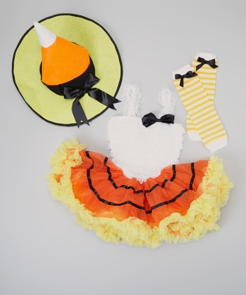 Orange Candy Corn Tutu Dress-Up Set - Infant, Toddler & Girls
