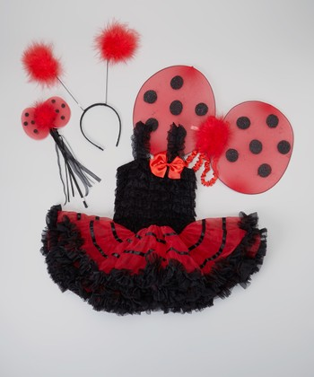 Black & Red Ladybug Tutu Dress-Up Set - Infant, Toddler & Girls