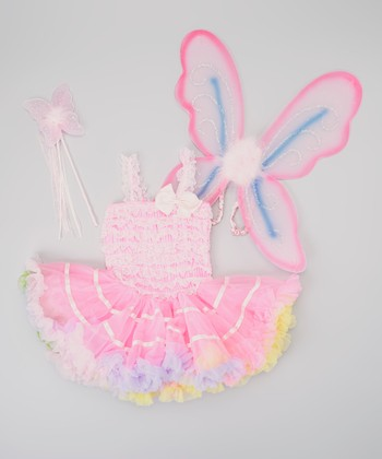 Pink & Purple Fairy Tutu Dress-Up Set - Infant, Toddler & Girls
