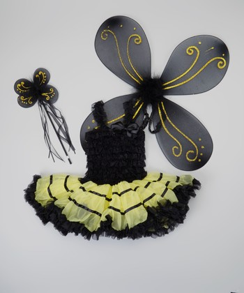 Black & Yellow Bumblebee Tutu Dress-Up Set - Infant, Toddler & Girls