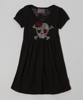 Black Rhinestone Skull Dress - Infant, Toddler & Girls