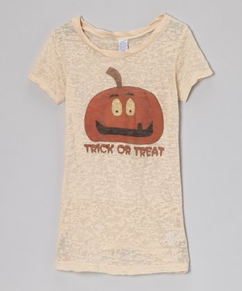 Nude 'Trick or Treat' Burnout Tee - Girls