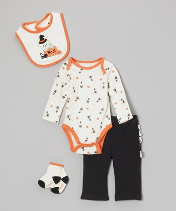 Orange 'Boo!' Pants Set - Infant
