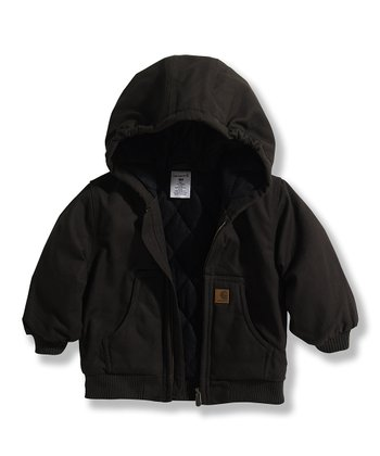 Black Canvas Jacket - Infant