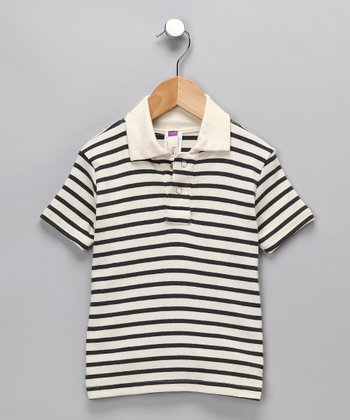 Blue Stripe Organic Polo - Infant, Toddler & Boys