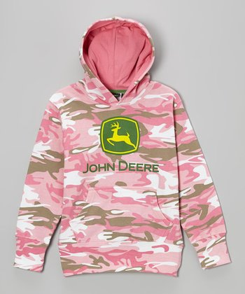 Pink Camouflage Fleece Hoodie - Infant, Toddler & Girls