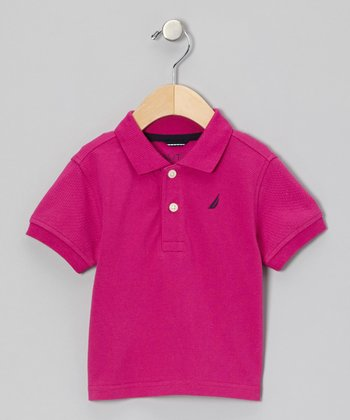 Fuchsia Polo - Boys