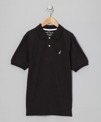 Deep Black Polo - Boys