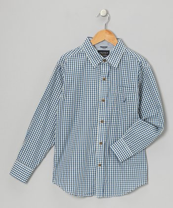 Cream Woven Button-Up - Infant, Toddler & Boys