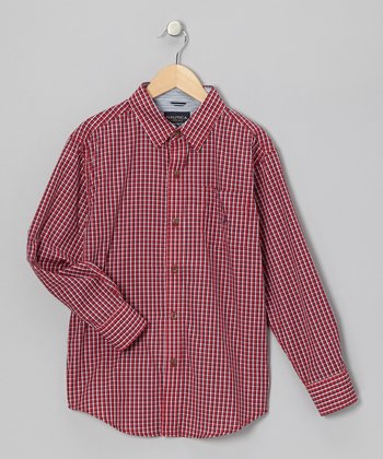 Cherry Woven Button-Up - Infant & Boys