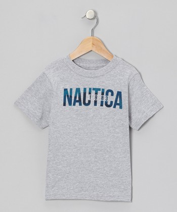 Light Gray Heather 'Nautica' Tee - Boys
