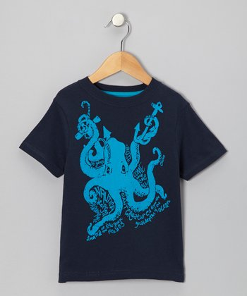 Core Navy Octopus Tee - Boys