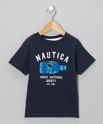 Core Navy 'Whale Watchers' Tee - Boys
