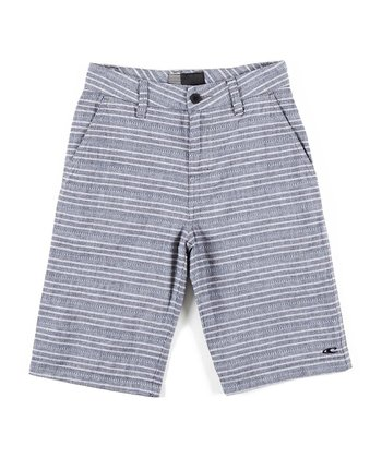 Gray Stripe Embark Shorts