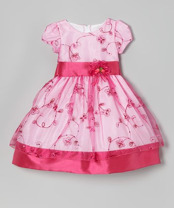 Blush Flower Embroidered Dress - Infant, Toddler & Girls