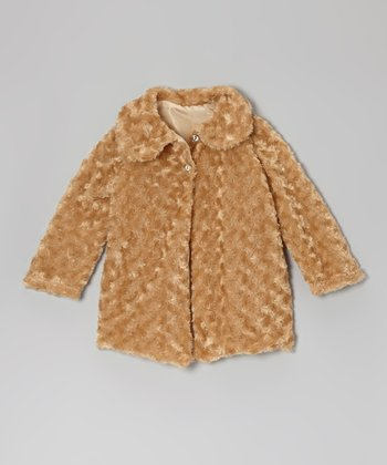 Gold Minky Swirl Jacket - Infant, Toddler & Girls