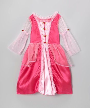 Fuchsia Rosette Fairy-Tale Dress - Toddler & Girls