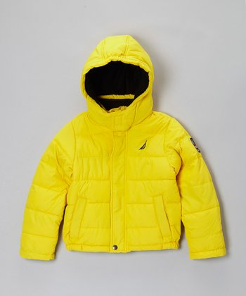 Yellow Puffer Coat - Kids