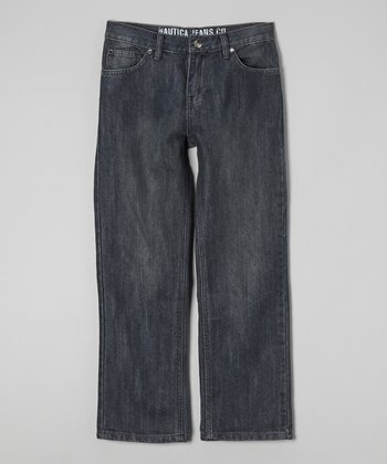 Dark Chrome Wide-Leg Jeans - Toddler