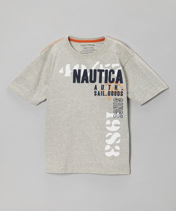 Heather Gray Short-Sleeve Tee - Boys