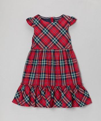 Red & Blue Plaid Dress - Infant & Girls
