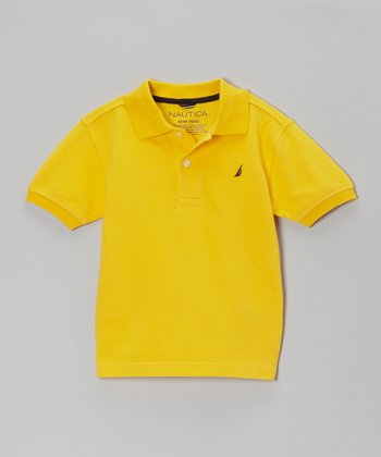 Bright Yellow Short-Sleeve Polo - Boys