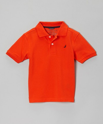 Tomato Short-Sleeve Polo - Boys