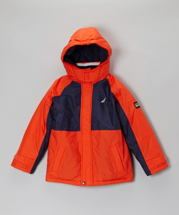 Tomato & Navy Snorkle Jacket - Toddler & Kids