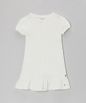 Natural White Sweater Dress - Infant