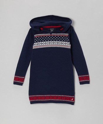 Navy Blue Sweater Dress - Infant & Toddler