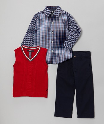 Red Vest Set - Toddler & Boys