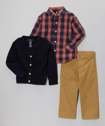 Navy Cardigan Set - Toddler & Boys