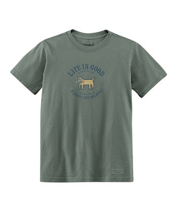 Warm Gray 'Hungry Like the Woof' Crusher Tee - Boys