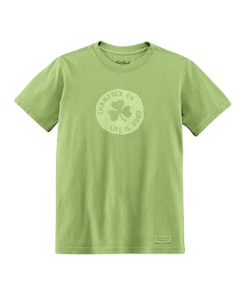 Palm Green Shamrock Crusher Tee - Boys