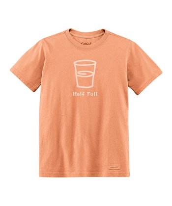 Sunset Orange 'Half Full' Crusher Tee - Boys