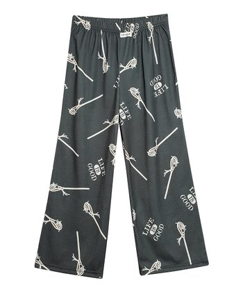 Dark Gray Lacrosse Pajama Bottoms - Toddler & Boys