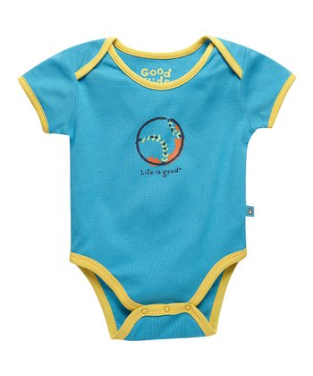 Summer Turquoise Baseball Bodysuit - Infant