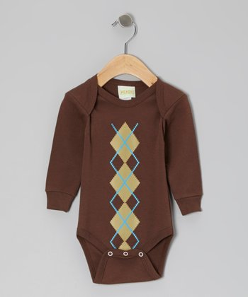 Brown Argyle Bodysuit - Infant