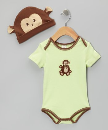 Green Giggles Beanie & Bodysuit - Infant