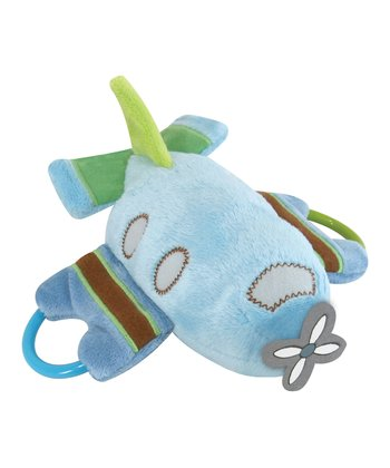 Blue Ring Plane Plush Toy