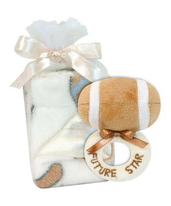 Football Ring Rattle & Blanket
