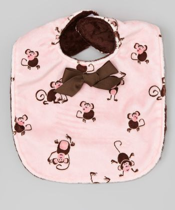 Pink Monkeys Bib