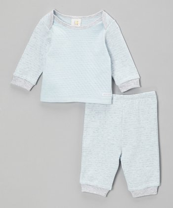 Blue & Gray Raglan Top & Pants