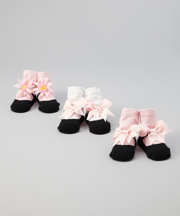 Black & Pink Perfectly Princess Socks Set