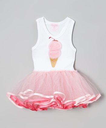 Pink Ice Cream Cone Tutu Dress - Infant