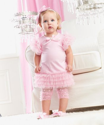 Pink Tiered Ruffle Dress - Infant